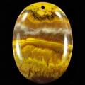 Yellow Banded Opal Pendant